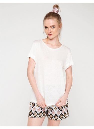 Love'n Fashion Paris Tişört Ekru